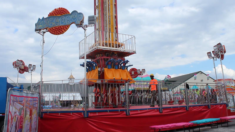 A new ride at the Midway, the Mega Drop.