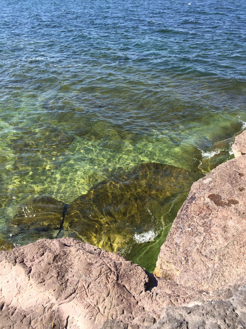 The water of Lake Ontario is clear and crisp. Great for swimming.