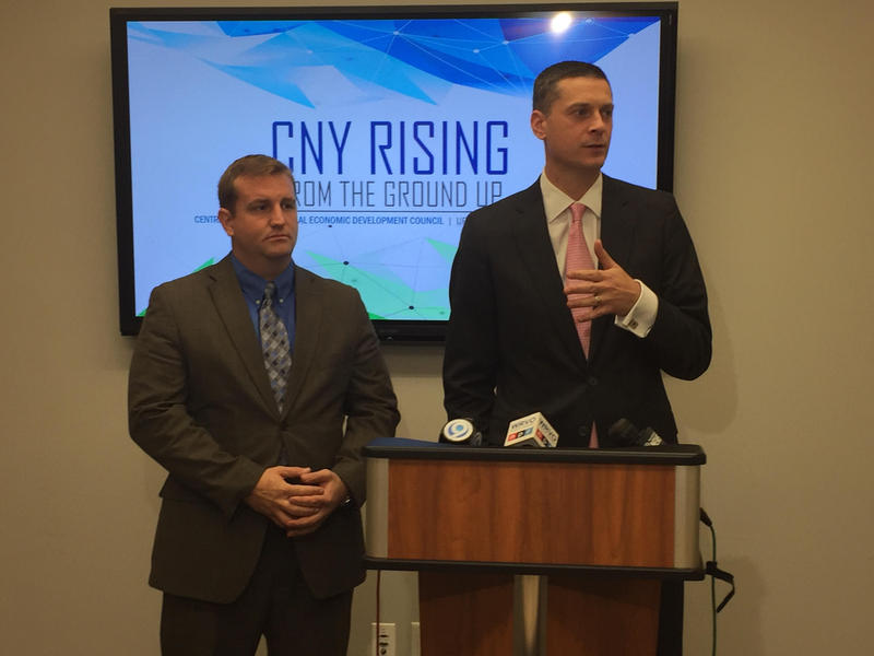 CNY Regional Economic Development Council members Andrew Fish (l) and Rob Simpson.