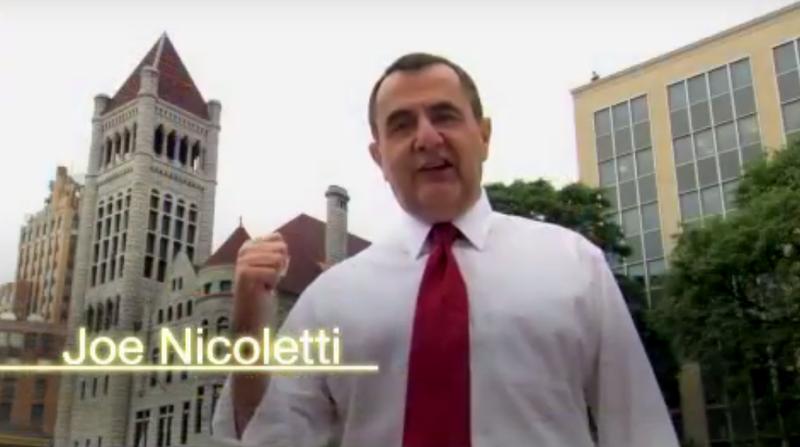 A still photo from a Joe Nicoletti campaign video in 2009.