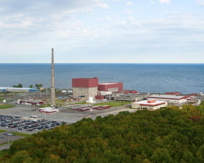 The James A. FitzPatrick nuclear power plant in Oswego County. The plant's owner, Entergy, announced Monday that it will close the plant in late 2016 or early 2017