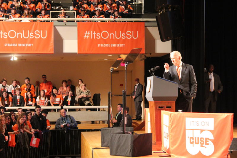Vice President Joe Biden at Syracuse University.