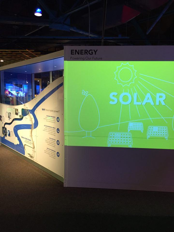 The new, interactive exhibit at the MOST Museum in Syracuse features renewable sources of energy production.
