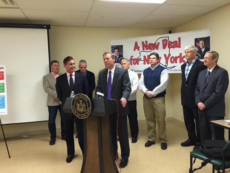 State Sen. Dave Valesky announcing the new apprenticeship program.