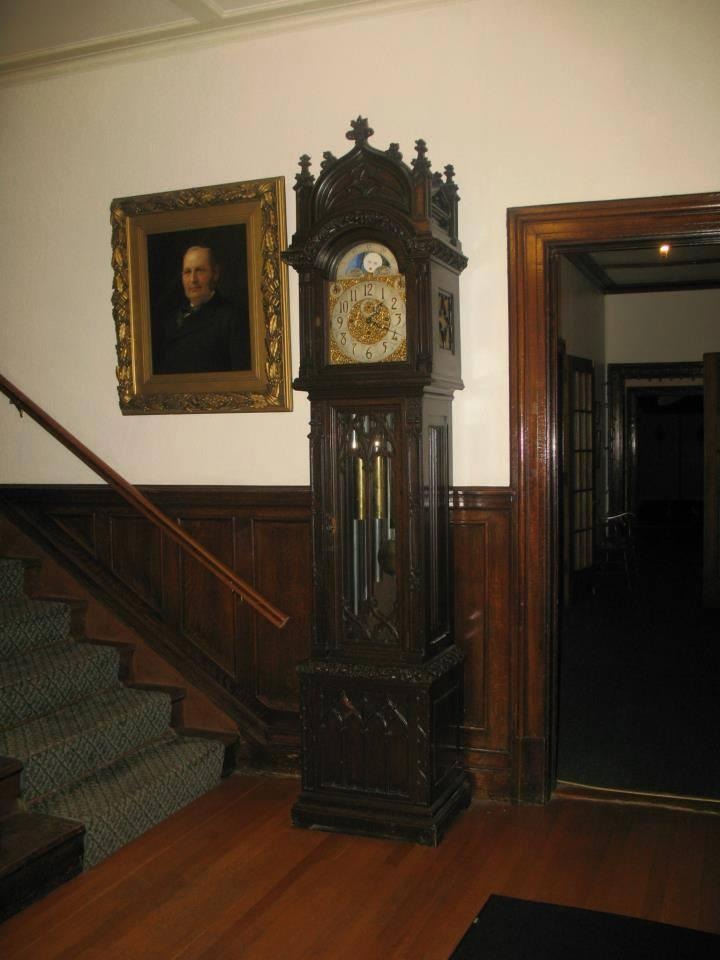 The grandfather clock is a favorite fixture in the club. The clock will remain in the building when the Northern New York Foundation moves in later this year.