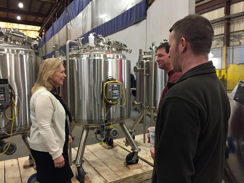 Sen. Kirsten Gillibrand tours Feldmeier Equipment in Syracuse.