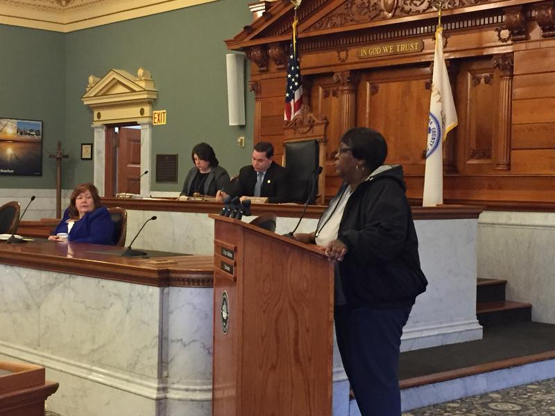 Syracuse resident Joanne Stevens spoke to Onondaga County lawmakers Tuesday, urging them to change a policy that prevents the visitation of a deceased loved one