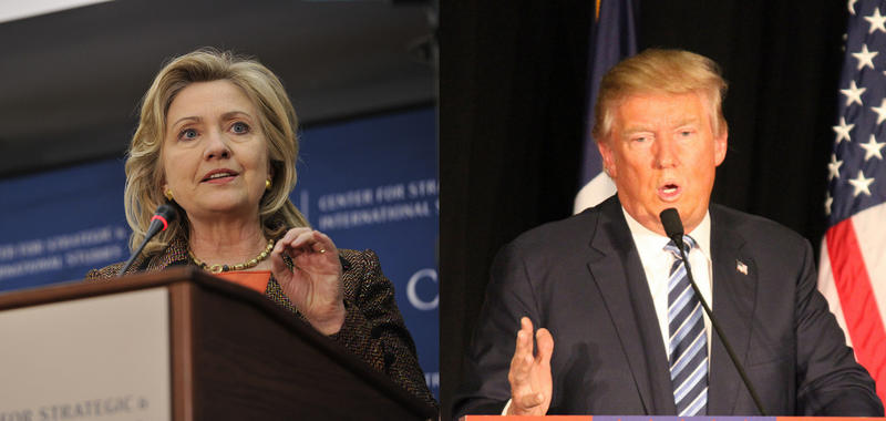 Democrat Hillary Clinton, left, and Republican Donald Trump, lead a poll released Thursday by Quinnipiac University. New York's primary is April 19.