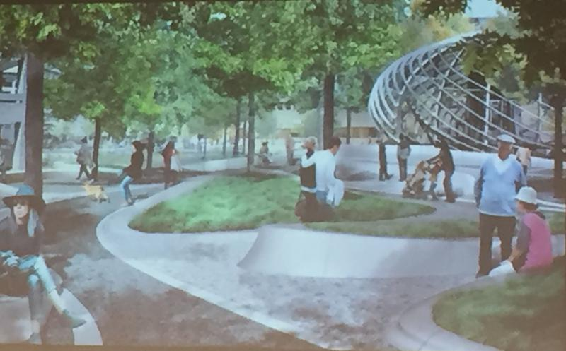 Artist's rendering of the new design for Perseverance Park in Syracuse.