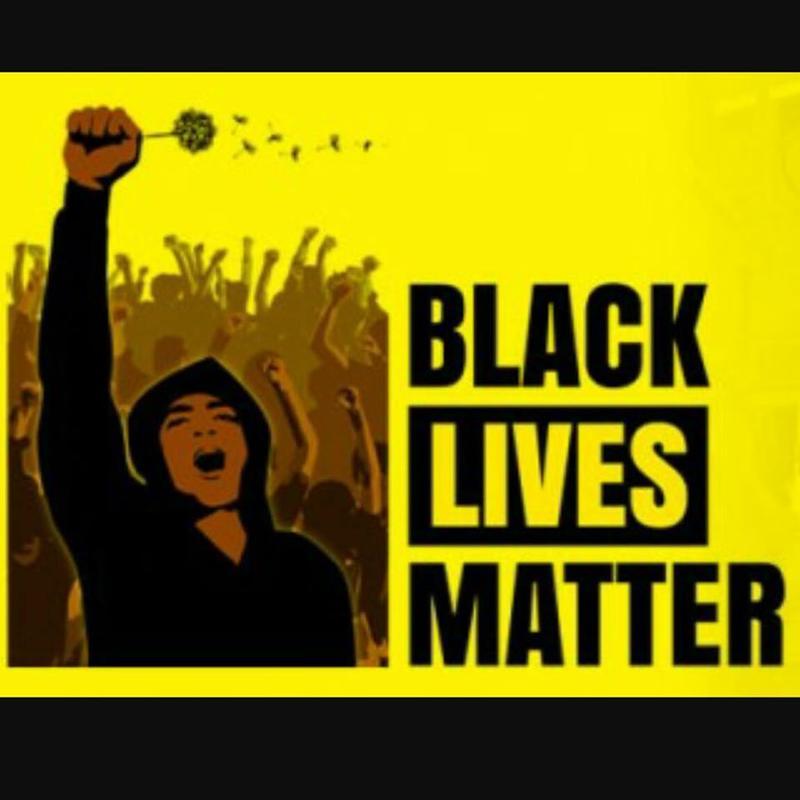 A Black Lives Matter poster.