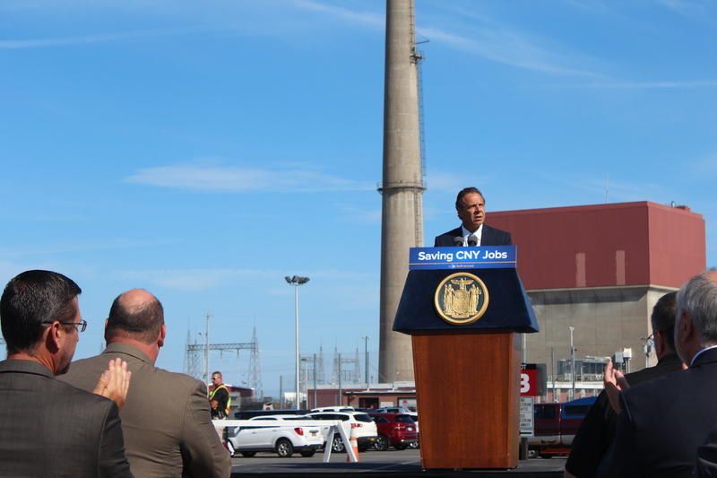 Gov. Andrew Cuomo at the FitzPatrick Nuclear Power Plant in Scriba.
