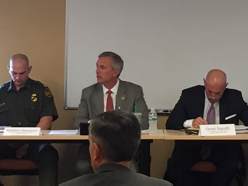 Rep. John Katko (R-Camillus) at a roundtable on security issues in Syracuse Thursday.