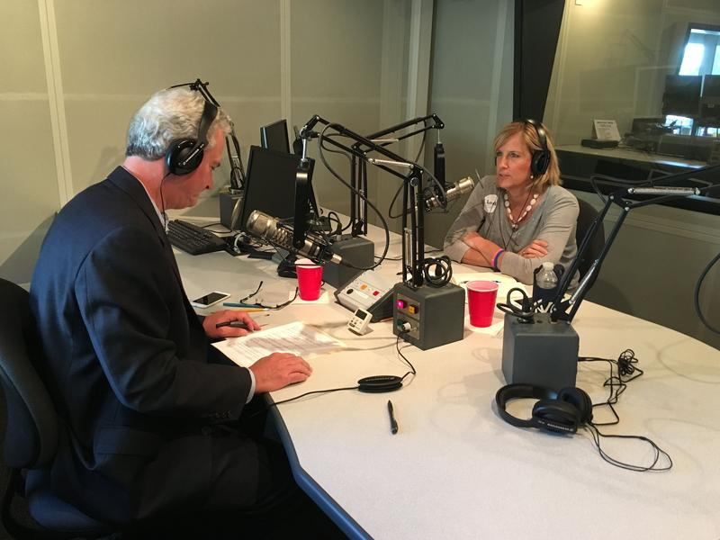 Republican State Assemblywoman Claudia Tenney, right, speaking with Campbell Conversations host Grant Reeher