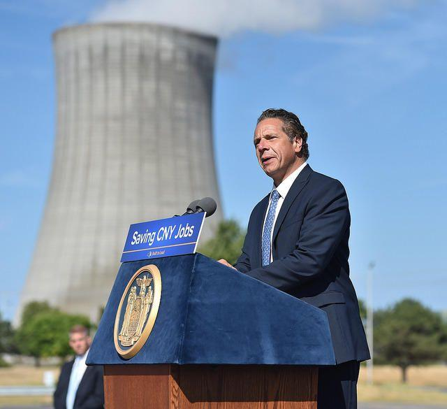Gov. Andrew Cuomo visited the FitzPatrick Nuclear Plant Aug. 9.