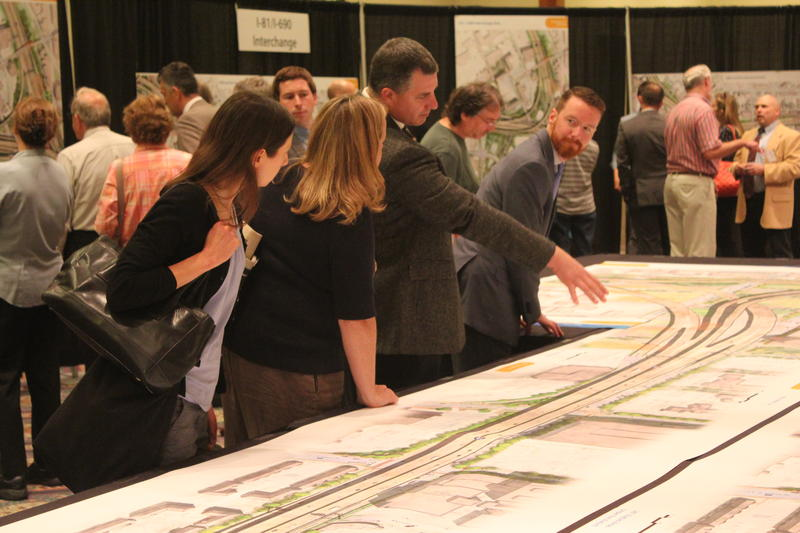 The state Department of Transportation presents the final options for the I-81 Viaduct Project to the public.