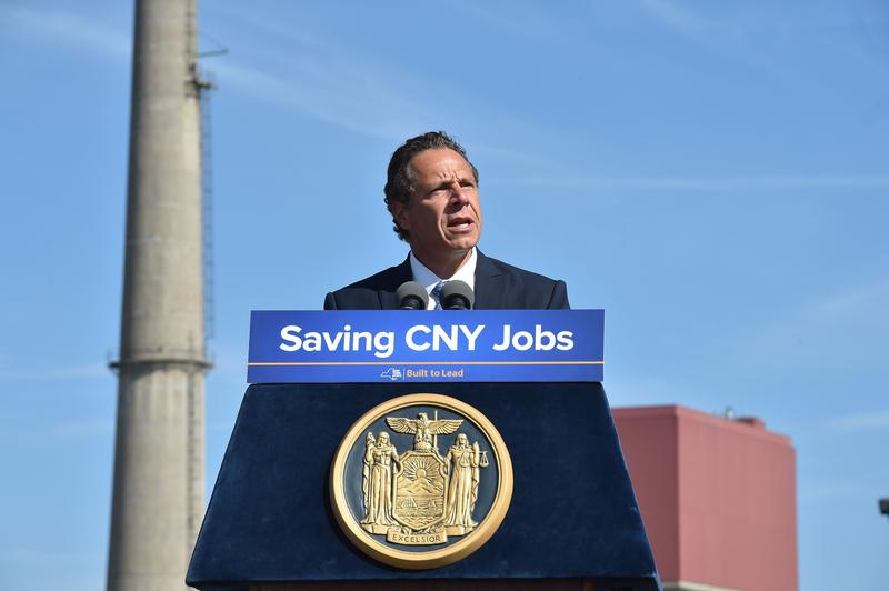 Gov. Andrew Cuomo visited the FitzPatrick Nuclear Power Plant in August 2016 to celebrate the news that Exelon would buy the ailing facility and keep it open with financial support from the state.
