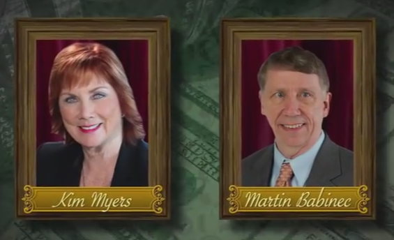 "A negative National Republican Congressional Campaign advertisement featuring Democratic candidate Kim Myers and Upstate Jobs Party candidate Martin Babinec labels the two as ""liberal millionaires"" who have outsourced jobs."