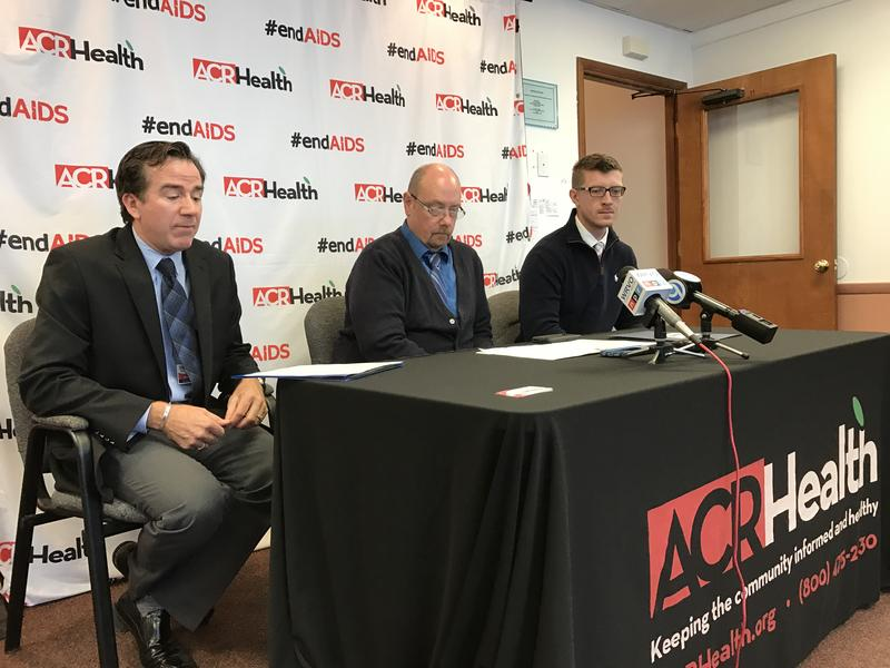 ACR Health officials answer questions at a press conference Tuesday in Syracuse.