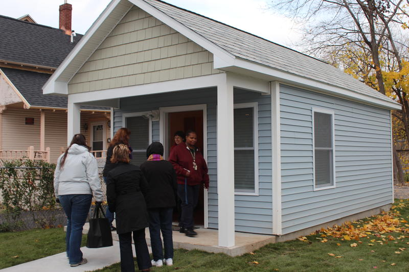 The nonprofit, A Tiny Home for Good, opens three more homes in Syracuse.