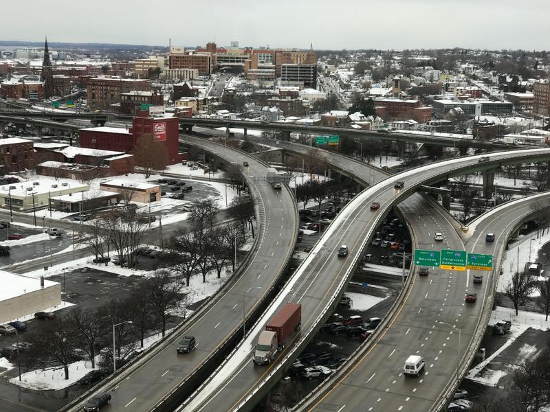 I-81 through downtown Syracuse.
