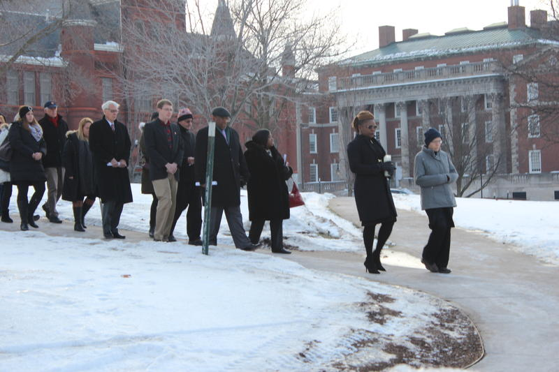 Friends and families of the victims of Pan Am Flight 103 attend a ceremony at Syracuse University.