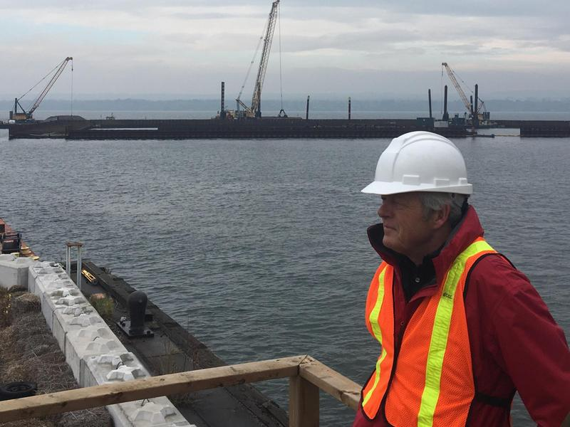 John Gee looks over the Randle Reef cleanup.