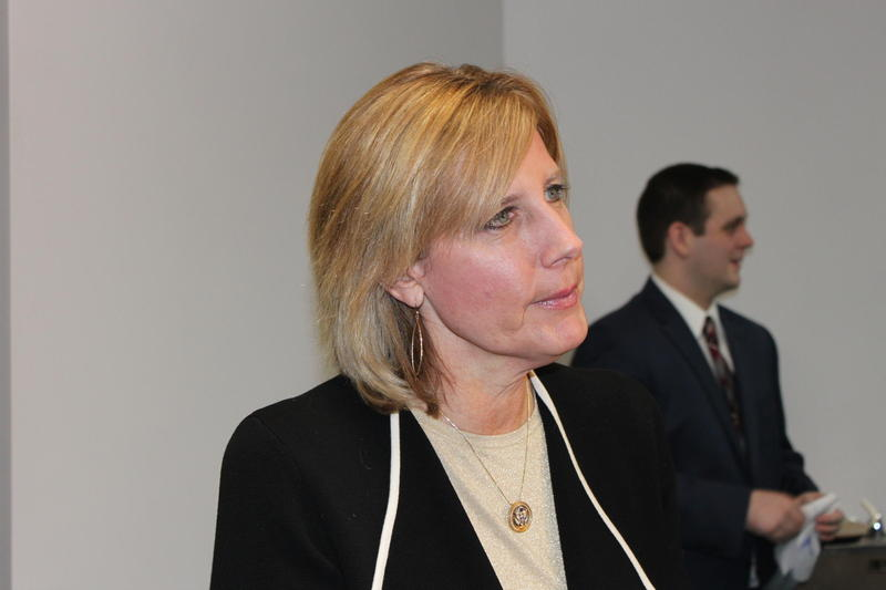Rep. Claudia Tenney (R-New Hartford) at her Binghamton office on Monday.