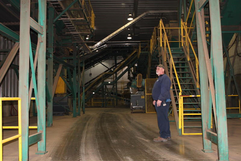 Andy Zuk is the plant manager of the county's composting facility, which has been in operation for about 10 years.