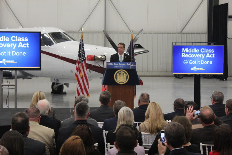 Gov. Andrew Cuomo in Syracuse on Wednesday.