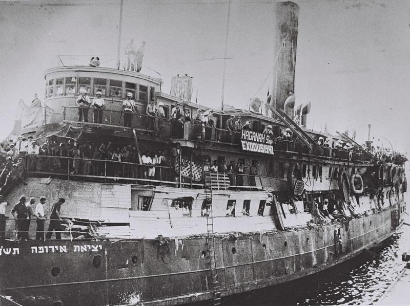 The Exodus ship following British takeover in 1947.
