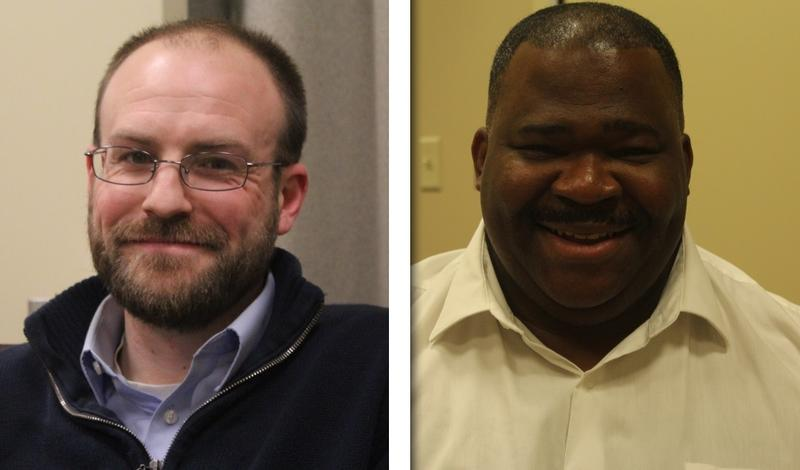 Kyle Madden and Gary Morris are both running for councilor-at-large in Syracuse.