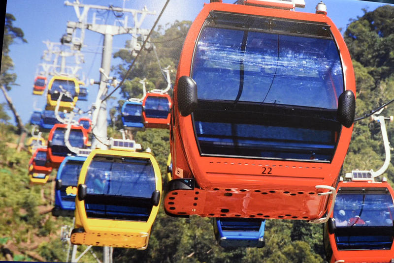 An example of an aerial gondola.