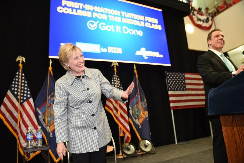 Former presidential candidate Hillary Clinton joined Gov. Andrew Cuomo last week for the signing of the state's new Excelsior Scholarship Program.