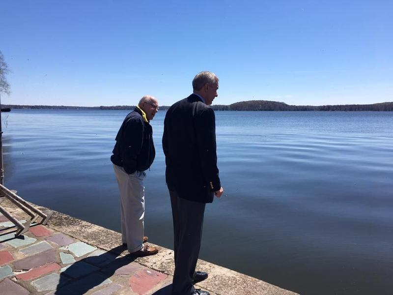 Rep. John Katko (R-Camillus) surveys the water levels on Lake Ontario.