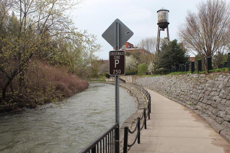 The Onondaga Creekwalk in Syracuse.