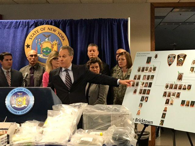State Attorney General Eric Schneiderman discusses his office's joint effort with Syracuse police on a 12-month long investigation called Operation Bricktown that focused on a notorious gang operating out of Syracuse's southside.