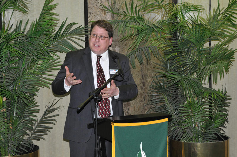 Our station manager, Bill Drake, also made remarks to SUNY Oswego alumni and friends.
