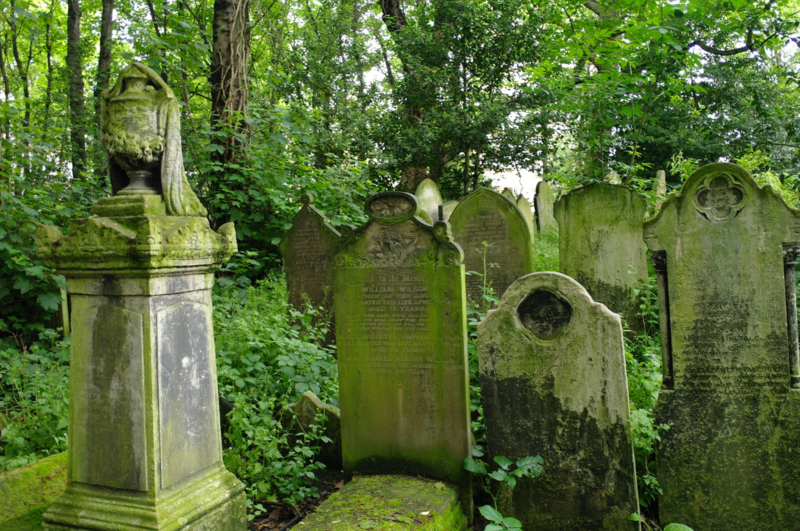 Tower Hamlets Cemetery Park in London, England.