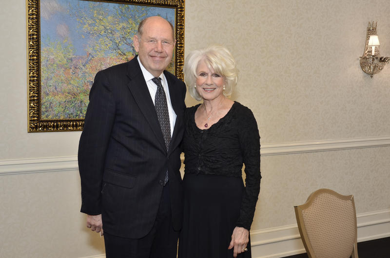 Former GM Michael S. Ameigh with Diane Rehm in 2012.