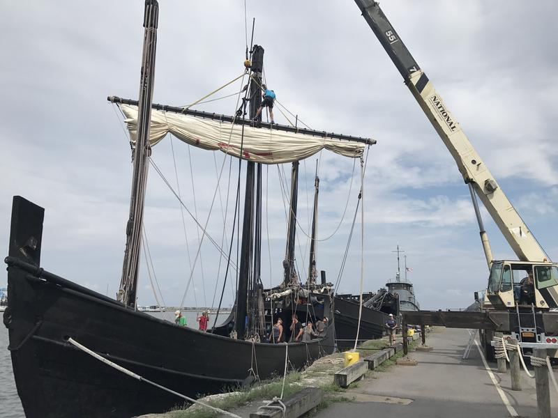 The replica Nina ship was built in Brazil 25 years ago.