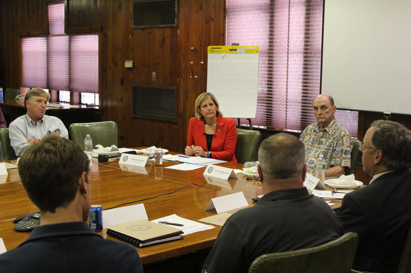 Rep. Claudia Tenney at a manufacturing roundtable in Rome.