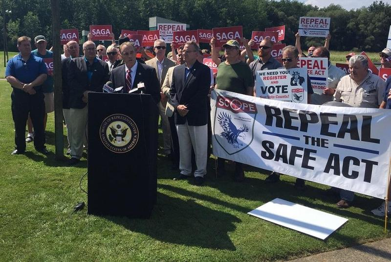 Rep. Chris Collins (R-Clarence) speaks at the Hamburg Rod & Gun Club, where he detailed his proposed Second Amendment Guarantee Act, or SAGA, that intends to eradicate provisions of New York's SAFE Act.