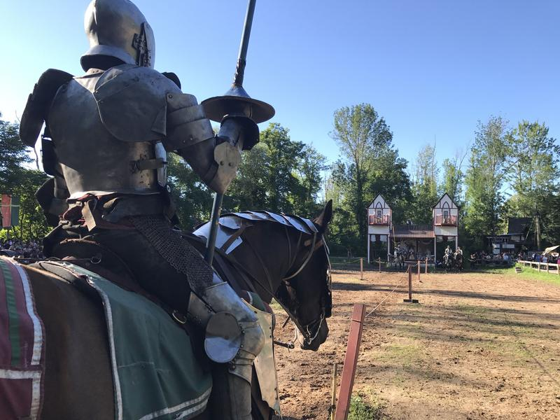 Jousting is one of the many shows at the Sterling Renaissance Festival in Oswego County.