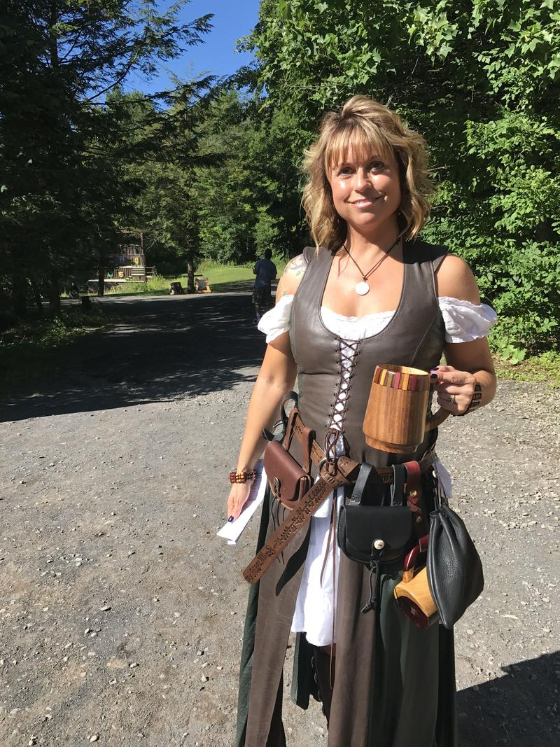 Those who visit the Sterling Renaissance Festival, like regular Renee Bowan, are encouraged to dress up and play along.