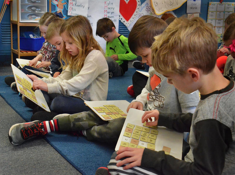 Kindergartners in an Ohio classroom learning letters. One in five American kids struggles to read, and many of them have dyslexia.