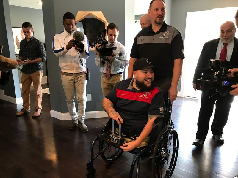 Matthew Leyva, a disabled U.S. army veteran, got a new home for his service from the Tunnel to Towers Foundation.