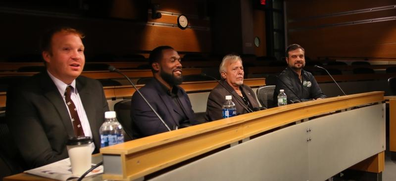 Four candidates are running for two at-large seats on the Syracuse Common Council. (From L-R) Tim Rudd (D), Khalid Bey (D), Norm Snyder (R), and Frank Cetera (GR)