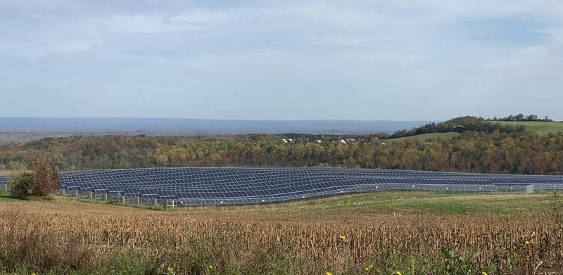 A solar array in Madison County will supply 70 percent of the power used by county government