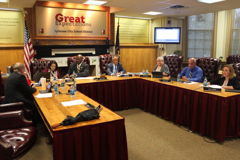 The Syracuse School Board at its meeting Wednesday