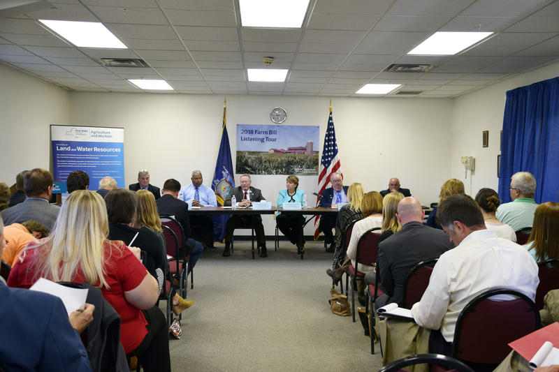 State officials held the first of a series of hearings on the Farm Bill in Watertown Monday